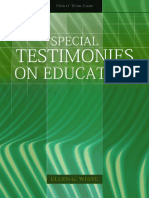 Special Testimonies on Education