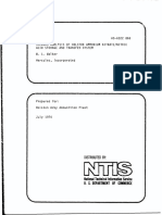 Hazards Analysis Nitric Acid & Ammon Nitrate Storage and Transfer