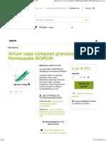 Allium Cepa Composé Granules Homéopatie BOIRON