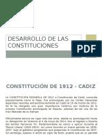 Desarrollo de Las Constituciones