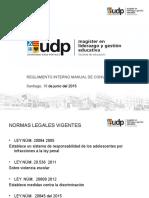 Reglamento Interno Convivencia 2015