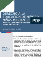 Derechos Ninos y Ninas Migrantes 2015