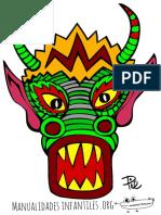 Mascara Dragon Chino Para Imprimir