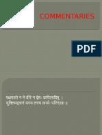 commentary sanskrit