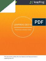 Leapfrog Geo Release Notes