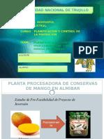 Planificacion y Control de Planta Procesadora de Mango