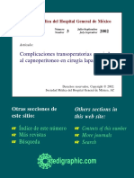 Complicaciones Asociadas Al Capnoperitoneo en Lapraoscopia
