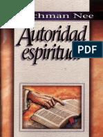 110 Watchman Nee Autoridad Espiritual 130803013554 Phpapp01