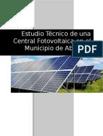 Estudio Técnico de Una Central Fotovoltaica del municipio de Abasolo