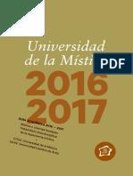 Universidad de La Mística. Guía Académica 2016-2017