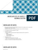 Modelado de Los Datos y Normalización BD
