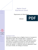 Ma3002 Dependencia Lineal