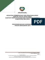 Proposal Pembenahan Dan Penataan Arsip Inaktif Kacau