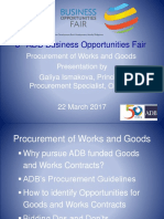 4 Plenary - Procurement of Goods and Works by GIsmakova 02Mar2017
