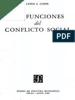 Coser, L. A. (1961). Las funciones del conflicto social. México Fondo de Cultura Económica.