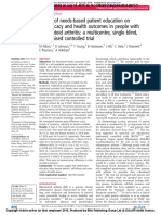 Effects of Needs-based Patient Education on Self-efficacy and Health Outcomes in People With Rheumatoid Arthritis