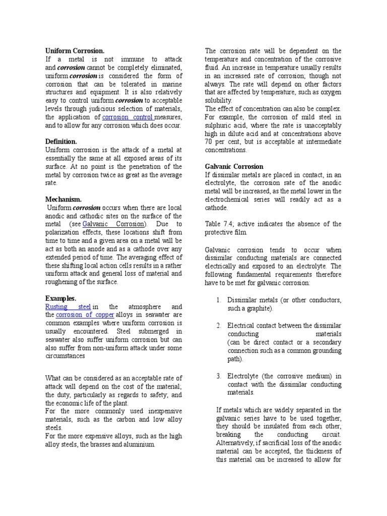 Corrosion Resistance Corrosion Metals