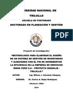 Proyecto de Tesis - Wilson Zavaleta Vásquez