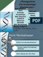 Ppt Pendahuluan Farmakologi Molekuler