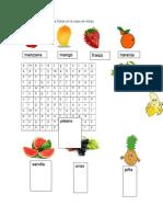 Busca el nombre de las frutas en la sopa de letras.docx