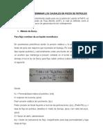 Metodos Para Determinar Los Caudales en Pozos de Petroleo