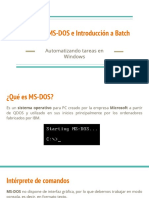 Comandos MS-DOS e Introducción a Batch