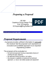 Preparing Proposal