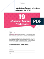 19 Influencer Marketing Experts give their Predictions for 2017