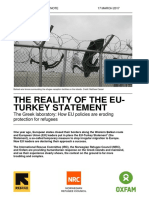 The Reality of the EU-Turkey Statement. The Greek laboratory