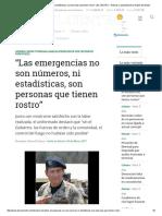 """""""Las Emergencias No Son Números, Ni Estadísticas, Son Personas Que Tienen Rostro"""" _ EL CENTRO - Noticias y Actualidad de La Región Del Maule"""