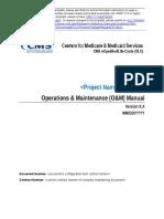 Operations Maintenance Manual