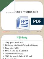 Bai Giang Word 2010 TIn Hoc Van Phong