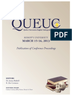 QUEUC 2013 Publication of Conference Proceedings
