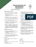 Autoevaluación MCS I de Matemáticas Financieras