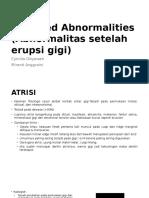 Acquired Abnormalities (Abnormalitas Setelah Erupsi Gigi) (1)