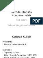 Pertemuan 01-Statistik Parametrik Dan Nonparametrik