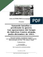 Barbarroja Operaciones Grupo Ejercitos Centro