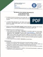 Informare Clase Pregatitoare 2017 2018