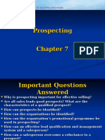 Personal Selling- Ch 7 - Prospecting