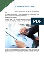 Financial Modelling Training- A Brief