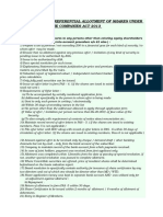 Checklist Preffrential Allotment