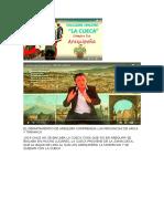 El Departamentio de Arequipa Comprendía Las Provincias de Arica y Tarapacá