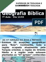 Geografia Bíblia 7º Aula