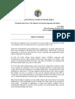 Judgment Media Summary - CCT 48-17 Black Sash Trust v Minister of Social...