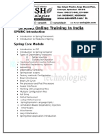 Spring Online Training in India