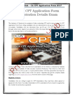 Online CA CPT Application Form 2017 Registration Details Exam Last Date