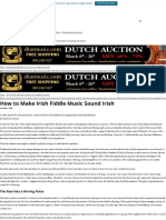 How to Make Irish Fiddle Music Sound Irish – Strings Magazine