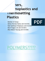 Polymers, Thermoplastics and Thermosetting Plastics