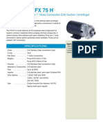 8166 CFX 75 H End Suction Centrifugal Pump