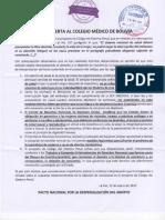 Carta Abierta Al Colegio Médico de Bolivia